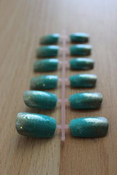 Mermaid Inspired Fake Nail Set Gradient / Ombre by misunis on Etsy, $10.50