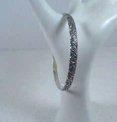 Vintage  Sterling Silver Bangle   Bracelet by 911VintageAddiction