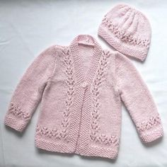 Dk up to 1094 yds. Ravelry: Project Gallery for Lacy Cardigan, Hat, and Shoes pattern by Sirdar Spinning Ltd. Baby Cardigan Knitting Pattern Free, Kids Knitting Patterns, Knitted Baby Cardigan, Knit Baby Sweaters, Knitted Baby Clothes, Knitting For Kids, Baby Patterns, Free Knitting, Cardigan Pattern