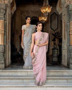Memoirs of a Maharan Drape Sarees, Organza Saree, Silk Organza, Organza Dress, Chiffon Saree, Indian Wedding Outfits, Indian Outfits, Indian Clothes, Lehenga Choli