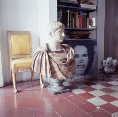 Recently deposited: an imperious Nero and Gerhard Richter's Frau Marlow (1964) share the floor space.