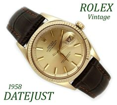 An utterly superb rare vintage Rolex Datejust that I have just received back from my Rolex trained technician who has … Rolex Models, Oyster Perpetual Datejust, Gold Rolex, Vintage Rolex, Rolex Datejust, Oysters, Omega Watch, Really Cool Stuff, Mint