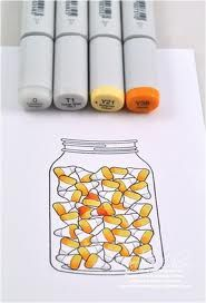 copic marker candy corn