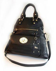 Emma Fox Black Leather Bags Glitz And Glam Purse Wallet