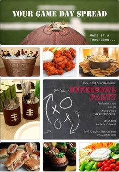 Great silverware cans, popcorn bowls/printing football field on cardstock Football Snacks, Football Parties, Invitation Ideas, Invites, Party Invitations, Super Bowl Sunday, Tailgating Recipes, Game Day Food, Pediatric Dentist