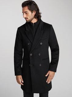 Double-breasted overcoat | Le 31 | Shop Mens Wool Coats, Trench Coats & Pea Coats in Canada | Simons