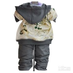 high end fashions for newborn boys | Wholesale - Fashion Children's 3 pieces Sets Baby Boy Cool Sets Jacket ...