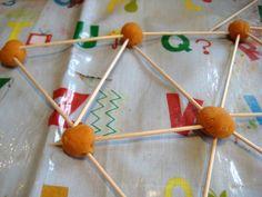 playdough and toothpicks