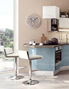 Cucina componibile laccata con penisola SWING | Cucina con penisola by Cucine Lube