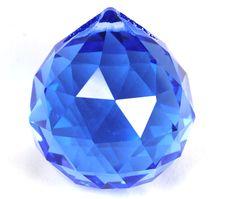Feng Shui Hanging Crystal Ball Blue