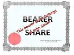 Bearer shares - Google Search John Smith, Business Company, Google Search