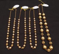 Gold Antique Pearl Mala Collections, Gold Pearl Mala Designs, Latest Gold Pearl Mala Models.
