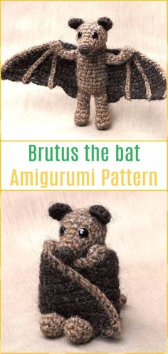 Crochet Fox : Amigurumi Brutus the Bat