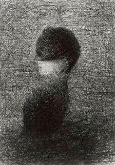 """""""La voilette"""" by Georges Seurat"""