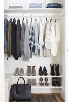 This closet is so modern