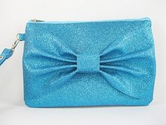 SUPER SALE  Blue Glitter Bow Clutch  Bridal Clutch Bridesmaid Clutch Wedding Clutch  Made To Order * You can find more details by visiting the image link.-It is an affiliate link to Amazon.