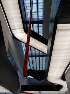 Interior of MAXXI - National museum of XXI century arts in Rome by Zaha Hadid architects