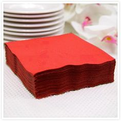 20 Red Napkins 33cm - 40th Wedding Anniversary Decoration Ideas
