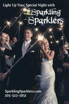 Sparklers on WeddingWire