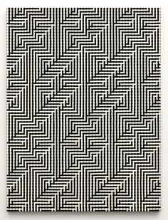Tauba Auerbach, Shadow Weave (Interlock, image), 2011, Woven canvas on wooder stretcher, 152,4 x 114,3 cm © Tauba Auerbach