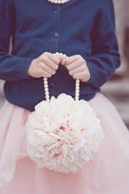 like the pearl beads for handle of flower girl pomanders