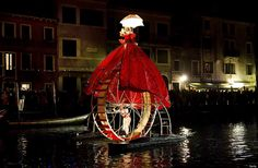 Venice Carnival: red + midnight