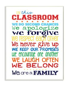 The Kids Room In This Classroom Rules Wall Plaque