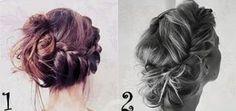 Hair buns braids