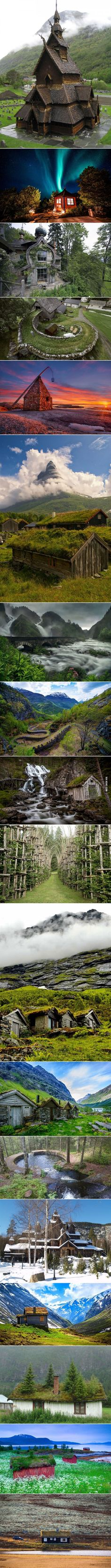 Norway... land of trolls and beautiful architecture