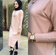 Zhr bej rmede One size Price : L You like it? Order now : Dm Autumn Fashion Classy, Boho Fashion Fall, Autumn Fashion 2018, Fall Fashion Outfits, Women's Fashion Dresses, Chic Outfits, Sexy Outfits, Hijab Style Dress, Casual Hijab Outfit