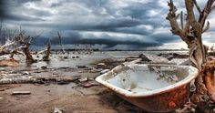 This Town Was Underwater For 25 Years Until Now. These Pictures Show The Eerie Aftermath.