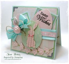 IBS's Easter set was used to create this pastel Easter card.