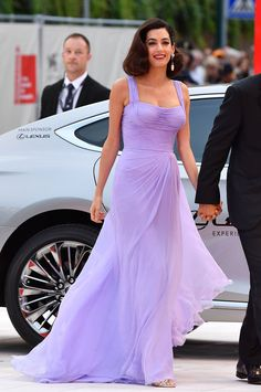 Amal Clooney's lovely violet gown