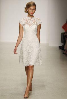 Ivory lace bridesmaids. (Amsale - Spring 2013 - http://www.brides.com/wedding-dresses-style/amsale-2000000001662571?docPos=98=a-line=social_pinterest)