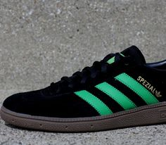 adidas Originals Spezial – Black / Green – Gum