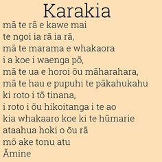 Maori Karakia or prayer. May the sun bring you energy by day May the moon… Tattoos Meaning Family, Maori Words, Maori Symbols, Maori Designs, Hawaiian Tattoo, Maori Art, Polynesian Culture, Language Activities, Childhood Education