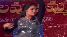 Telugu School Girl Recording Dance On Village Stage Very