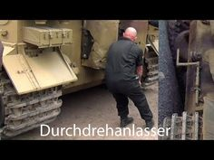 """🇩🇪 Tiger Tank """" Hand Crank Engine Start Up """" - It takes a big bloke.Best when listened to on some Cerwin Vegas! Tiger Tank, Engine Start, Starter Motor, Sounds Great, Panzer, Armored Vehicles, War Machine, Wow Products, Weather Conditions"""