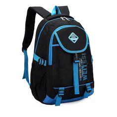 $22.45 (Buy here: https://alitems.com/g/1e8d114494ebda23ff8b16525dc3e8/?i=5&ulp=https%3A%2F%2Fwww.aliexpress.com%2Fitem%2FKorean-men-and-women-shoulder-bag-backpack-schoolbag-tide-models-College-Wind-Middle-School-sports-bag%2F32256417759.html ) Middle School Boys Girls Double Shoulder School Bags Letters Children Backpacks Schoolbag Men Travel Bag Bolsas Mochilas Meninos for just $22.45