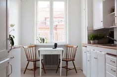 Typical Swedish kitchen.