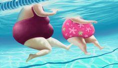 Storyboard Artist and Illustrator – Ben Jelfs Plus Size Art, Fat Art, Fat Women, Bathing Beauties, Whimsical Art, Big And Beautiful, People Art, Illustrators, Swimming