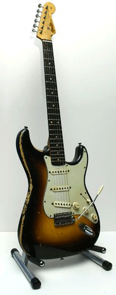 Jimi Hendrix's 1968 Stratocaster - played at Woodstock in 1969.