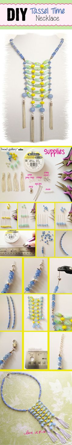 DIY Tassel Time Statement Necklace