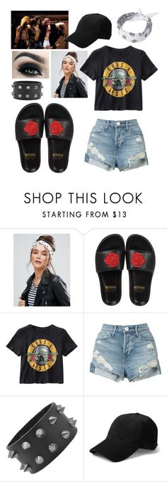 """Guns n' Roses"" by kellimagine ❤ liked on Polyvore featuring Pia Rossini, BUSCEMI, 3x1 and Too Faced Cosmetics"