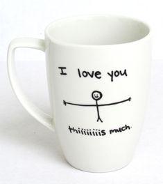 I love You This Much Coffee Mug by FruitfulFeet on Etsy