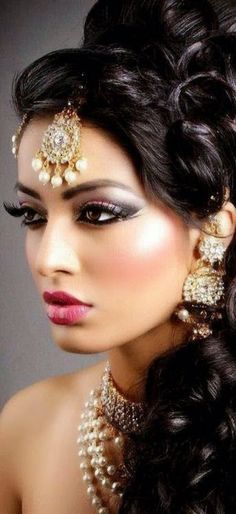 Indian Style Makeup and Hairstyle Looks for Brides