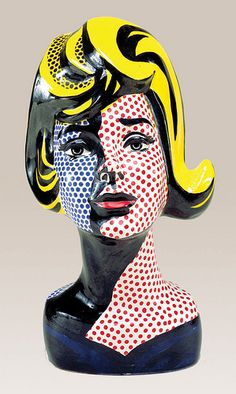 Más tamaños | Lichtenstein, Roy (1923-1997) - 1965 Head with Blue Shadow (painted ceramic) | Flickr: ¡Intercambio de fotos!
