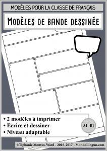 Modèles de bande dessinée | Mondolinguo - Français Learning French, Roman, Activities, Teaching, Writing, Illustration, Kids, Readers Workshop, Fle