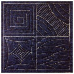 Free-motion quilting with Fine Line Rulers by Accents in Design