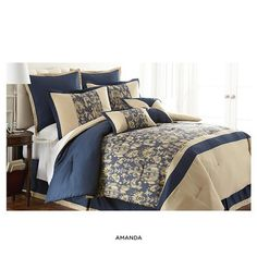 8-Piece Set: Overfilled Contemporary Comforter Collection - Assorted Styles at 80% Savings off Retail!  King, Reagan